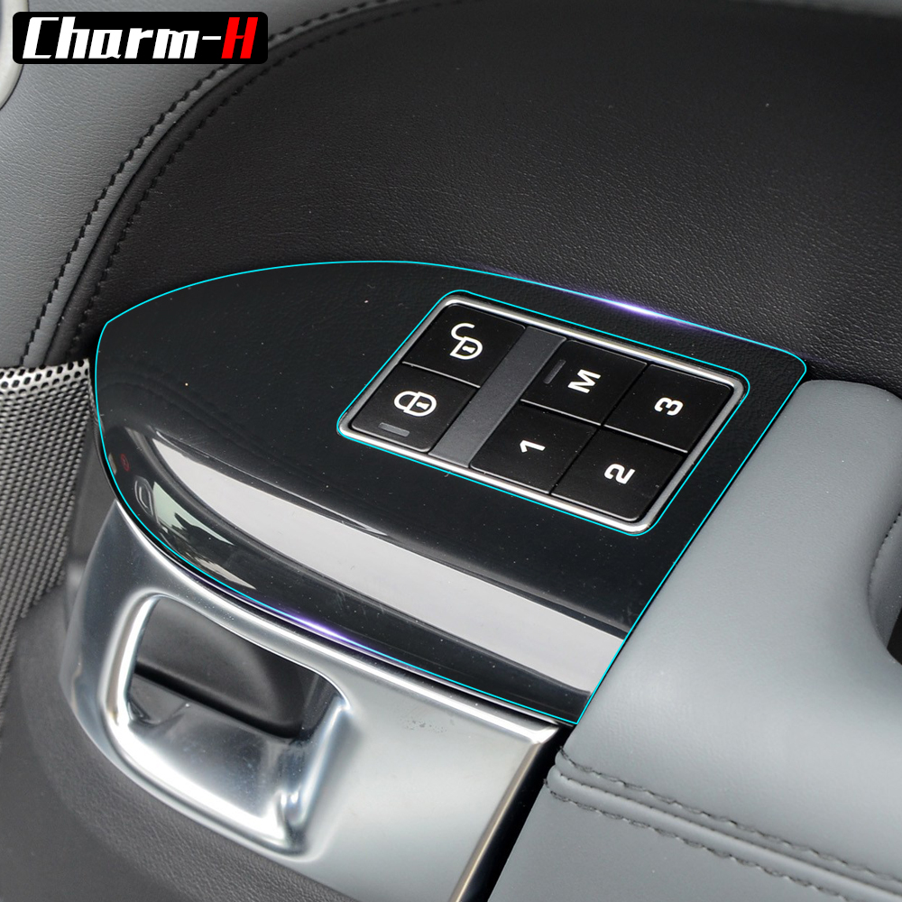 Sticker For Range Rover Sport Transparent Promotion Tpu: Invisible Center Console Gear Shift Knob Air Conditioning