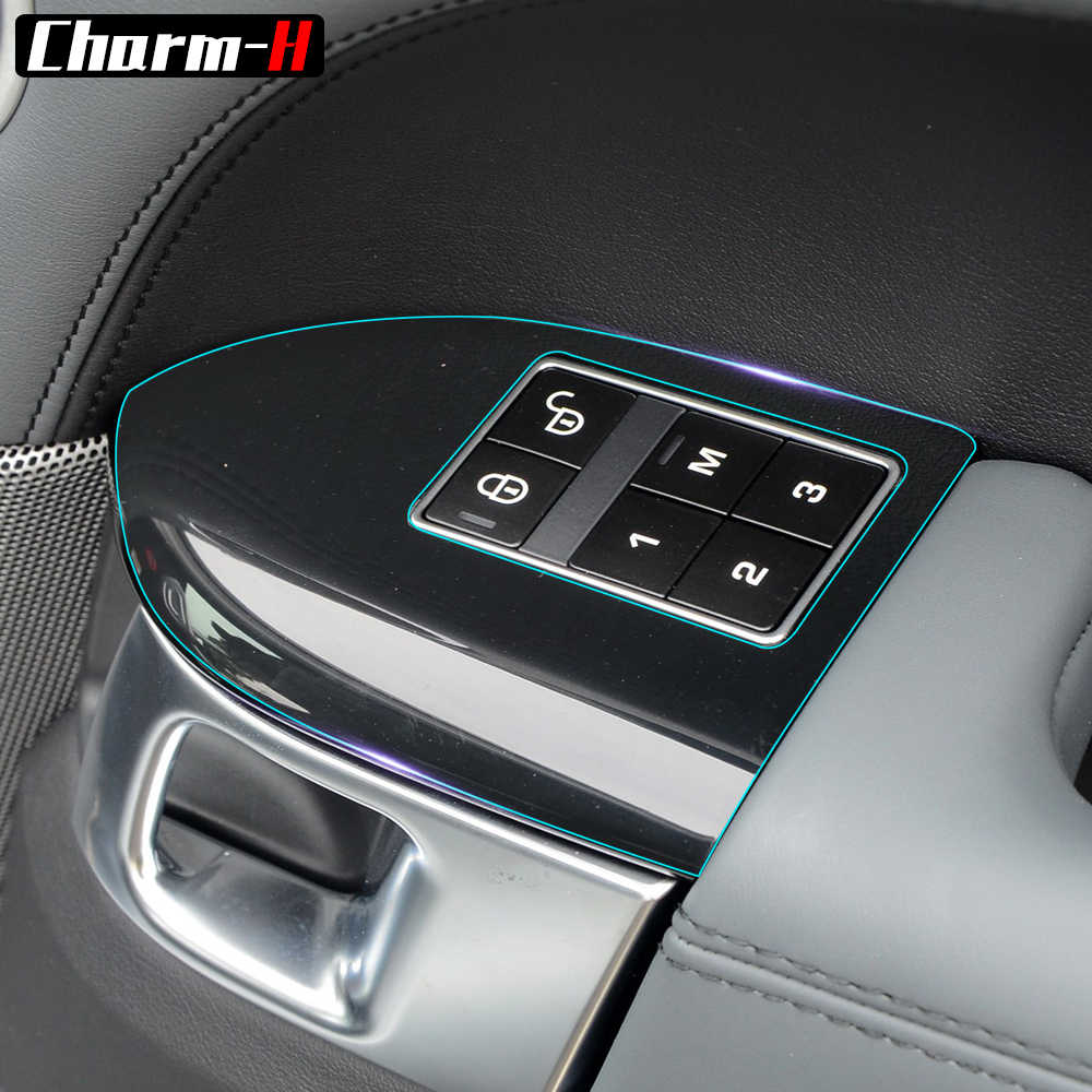 Invisible Center Console Gear Shift Knob Air Conditioning Panel TPU  Protective Film Sticker for Range Rover Sport 2013-2017