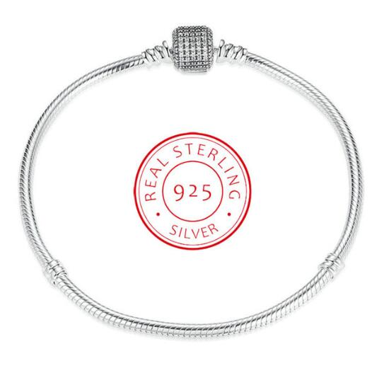 Authentic 925 Sterling Silver Love Heart Chain Pandora Bracelet For Female Charms Bracelets & Bangles Silver Jewelry цена 2017