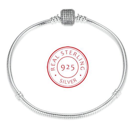 Authentic 925 Sterling Silver Love Heart Chain Panodra Bracelet For Female Charms Bracelets & Bangles Silver Jewelry lukeni authentic s990 sterling silver hundred blessing word adjustable bracelet bracelets
