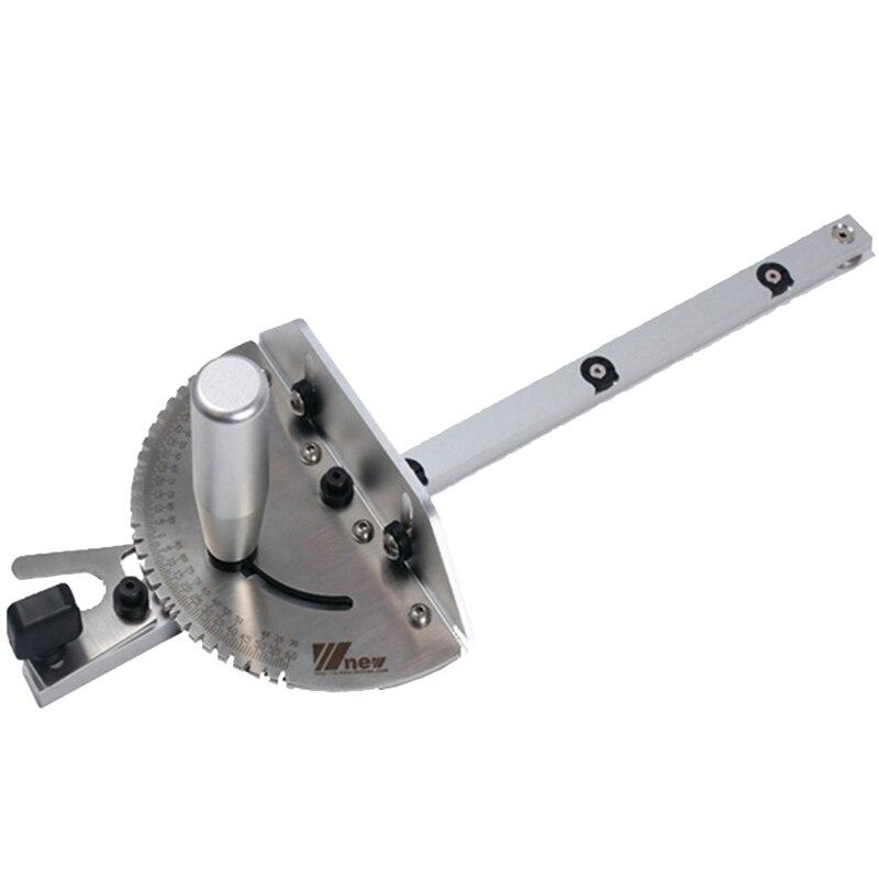 Jauge d'onglet 450Mm avec scie à Table d'arrêt de voie/jauge d'onglet de routeur règle d'assemblage de sciage pour les outils de menuiserie de routeur de scie à Table