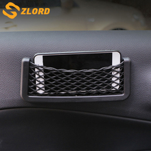 Zlord Herorider Car Phone Box Compartment Net For Universal Carrying Bag Styling Storage Black Accessories