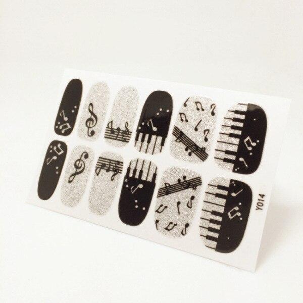 Nails Sticker Piano Musical Note Design Nail Sticker Manicure Decor