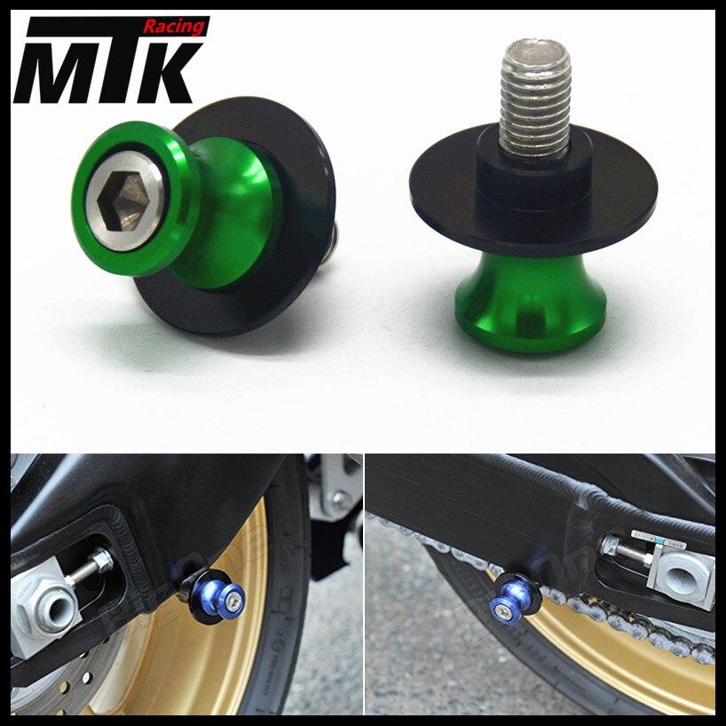 Free delivery8mm Motorcycle stand screws Swingarm Spool Slider For KAWASAKI Z800 Z1000 Z1000SX ZX6R ZX-6R ZX-10R ZX10R ABS 14-16