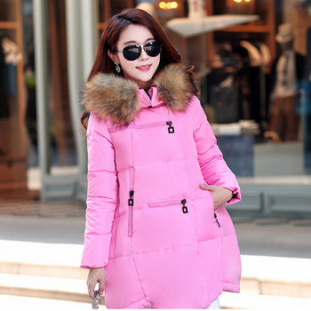 5XL Winter Down Parka Jackets Coats For Pregnant Women Windbreaker Warm Fur Collar Maternity Overcoat Pregnancy Outwear Clothing
