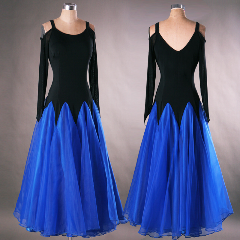 ladies standard womens ballroom dance dresses long sleeve ballroom ...