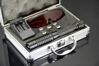 NEW high powered 500000m 450nm blue laser pointer burning match/dry wood/candle/black/Cigarette+5 cap+charger gift box