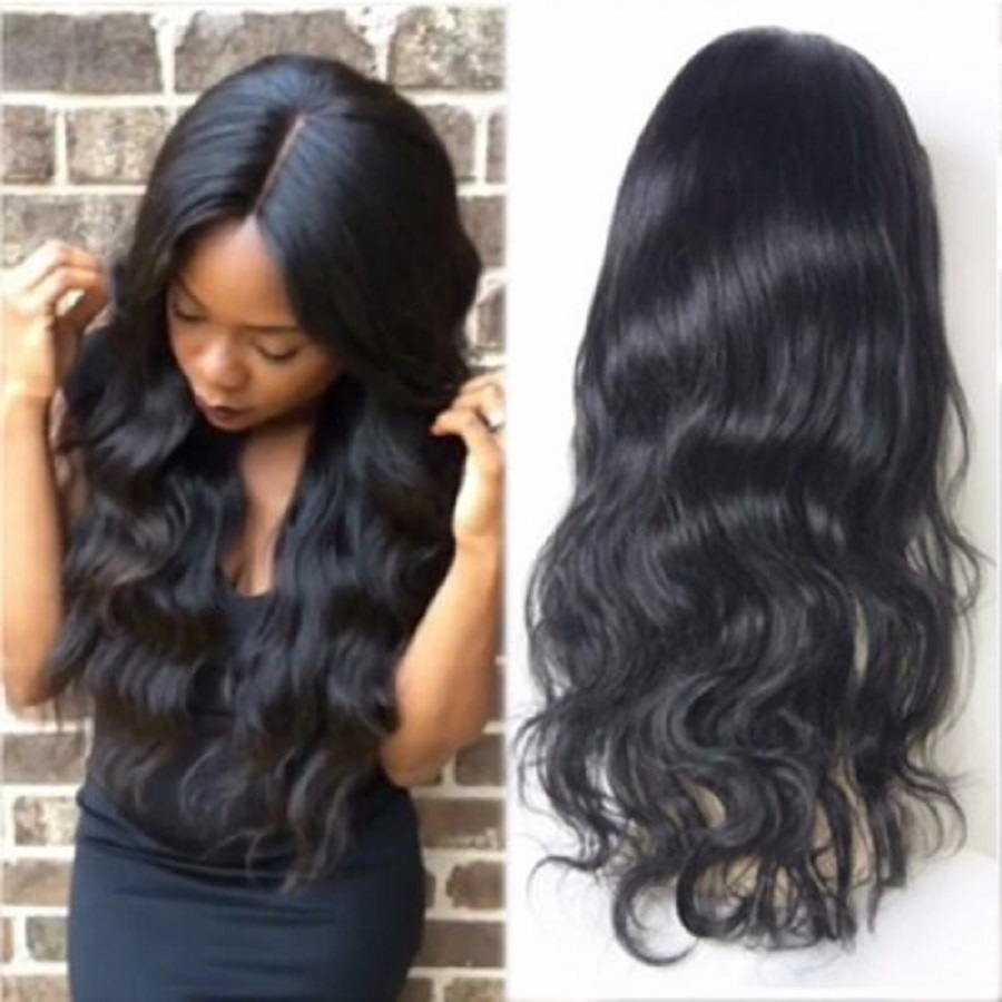 Body Wave Glueless Full Lace Human Hair Wigs With Baby Hair Pre Plucked Wavy Wigs Brazilian Remy Hair Full Lace Wigs Favor Hair