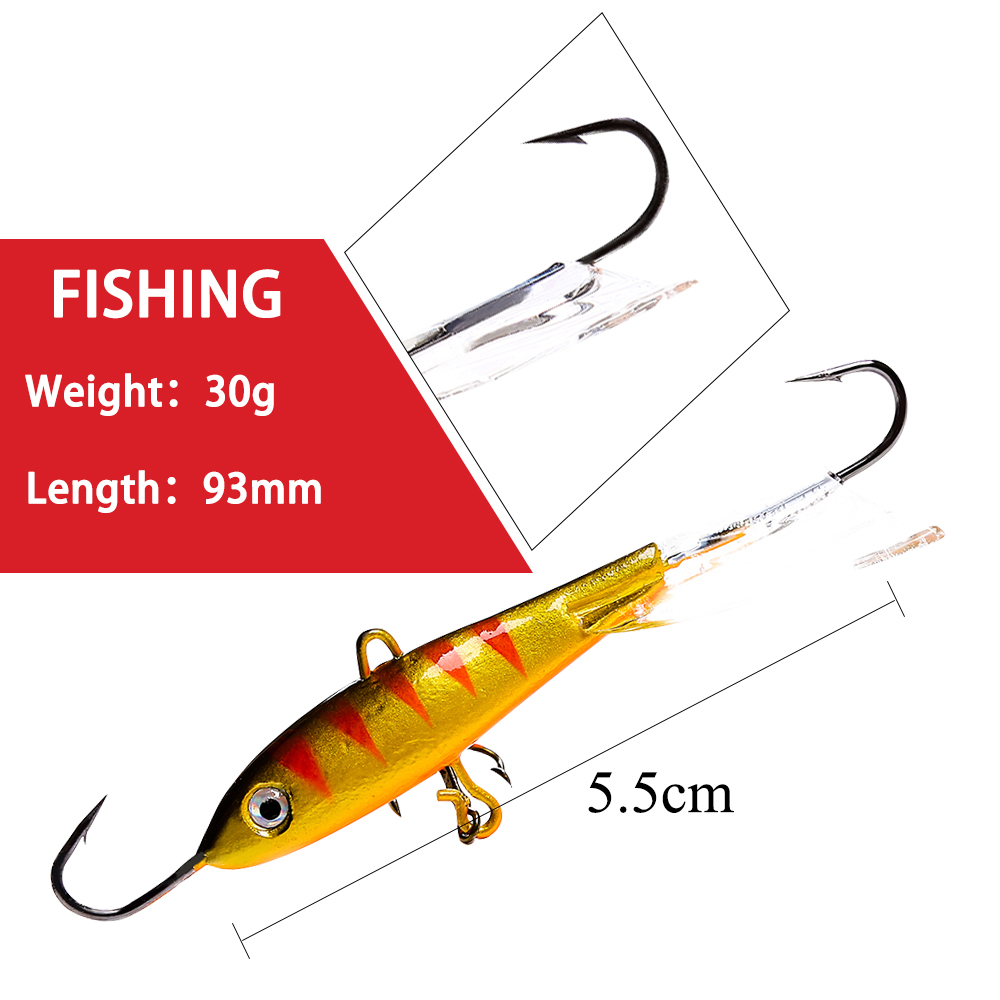 Artificial Balancer Insect Ice Fishing Lure Winter Bait Lead Hard Hook AD-Sharp