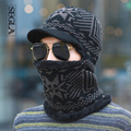 SEGLA New Balaclava Winter Men's Skullies Wool Knitted Balaclava Cap Ninja Mask Thermal Plush Pocket Hat Cycling Snow Ski Cap