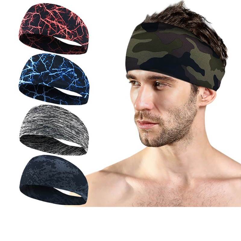 Fitness Sportswear Yoga Sweatband Women Polyester Soft Quick Dry Breathable Elastic Travel Headbands Running Hiking Accessories