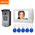 Wholesale 7 inch TFT Monitor Video Door Phone Bell Intercom 5 ID CCD IR Night Vision  Waterproof Cameras wired video intercom