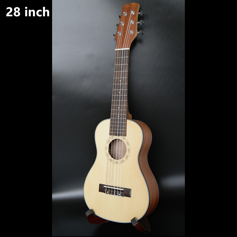 28 Inch Ukulele Hawaiian Mini Guitar 6 Strings Ukelele Ingman spruce Stringed music instrument Electric Ukulele with Pickup EQ hlby good deal 17 mini ukelele ukulele spruce sapele top rosewood fretboard stringed instrument 4 strings with gig bag 2