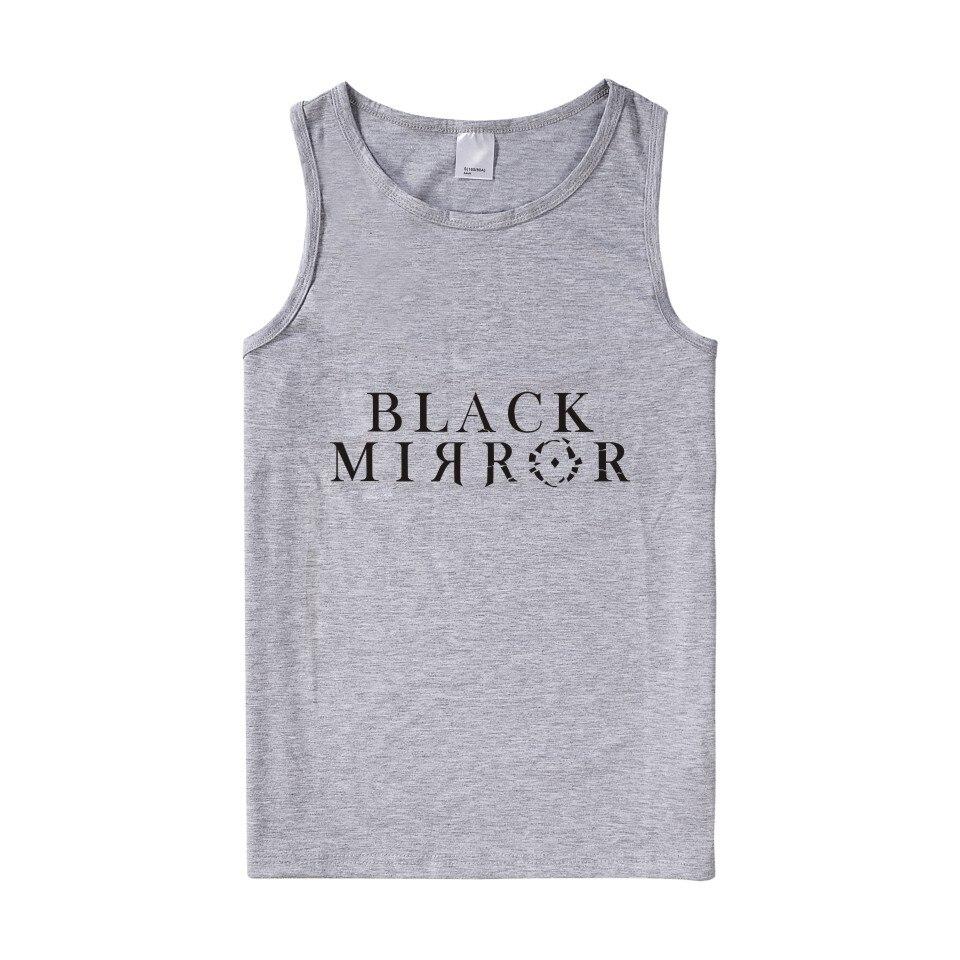 LUCKYFRIDAYF 2018 New Black Mirror   Tank     Tops   Men/Women Summer Sleeveless Fitness Workout Fashion   Tank     Top   Women/Men Casual Vests
