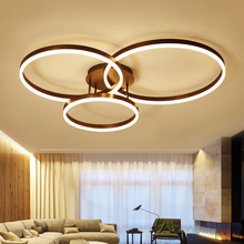 New Surface Mounted Nordic art rings Modern led Chandelier lights for livingroom bedroom lustres de sala chandelier lighting