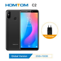 Global version HOMTOM C2 Android 8.1 2+16GB ROM Mobile Phone Face ID MTK6739 Quad Core13MP Dual Camera OTA 4G FDD LTE Smartphone