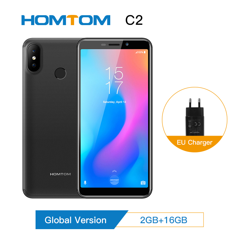 Version globale HOMTOM C2 Android 8.1 2 + 16 GB ROM téléphone Mobile identification faciale MTK6739 Quad Core13MP double caméra OTA 4G FDD-LTE Smartphone