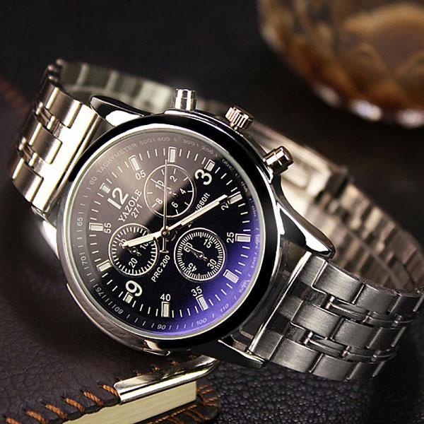 YAZOLE Fashion Stainless Steel Wrist Watch Men Top Brand Luxury Famous Male Clock Quartz Watch for Men Hodinky Relogio Masculino