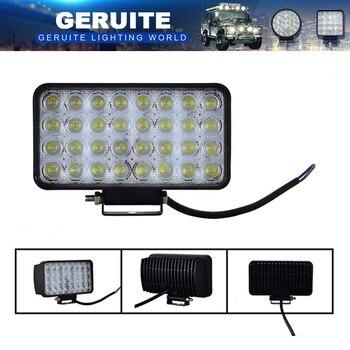 2 шт. GERUITE 96 Вт светодиодные прожекторы для грузовиков, внедорожников, лодок, охоты, рыбалки, водонепроницаемые рабочие фары, автомобильные п...