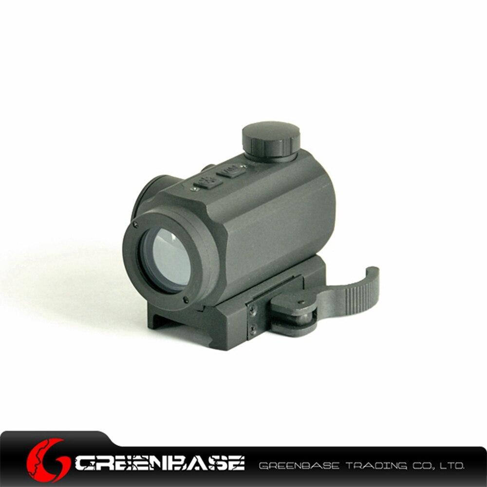 Greenbase Hunting Sight 1x21 Red & Green Dot Scope 4 MOA Optical Scope 20mm Rail Mount For Airsoft Rifle Aluminum Matte Black 1 x 33mm red green light dot bird sight scope for dslr black 1 x cr2032