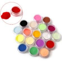 12 цветов акриловый порошок Пыль УФ гель Дизайн 3D Советы украшения Маникюр дизайн ногтей Акриловые порошки и жидкости Очиститель ногтей бит