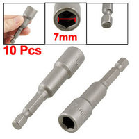10 Pcs 1 4 Shank 7mm Hex Socket Spanner Wrench Nut Setter Driver Bits