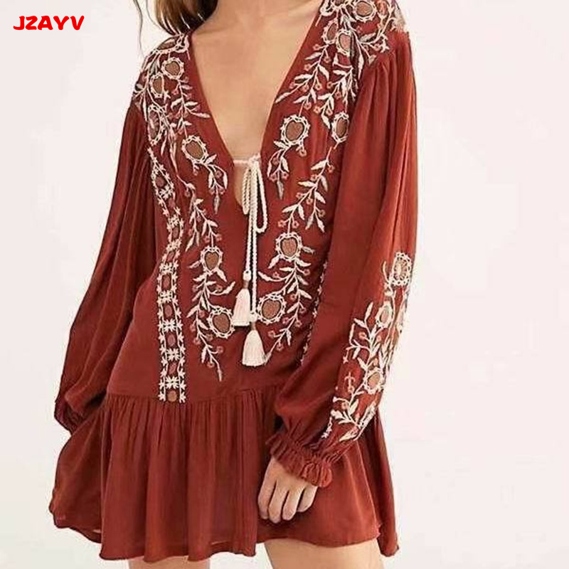 1b859fa58 JZAYV-Oraneg-252FWhite-Women-Tassel-Lace-Up-V-Neck-Embroidery-Blouse -Female-Long-Puff-Sleeves.jpg