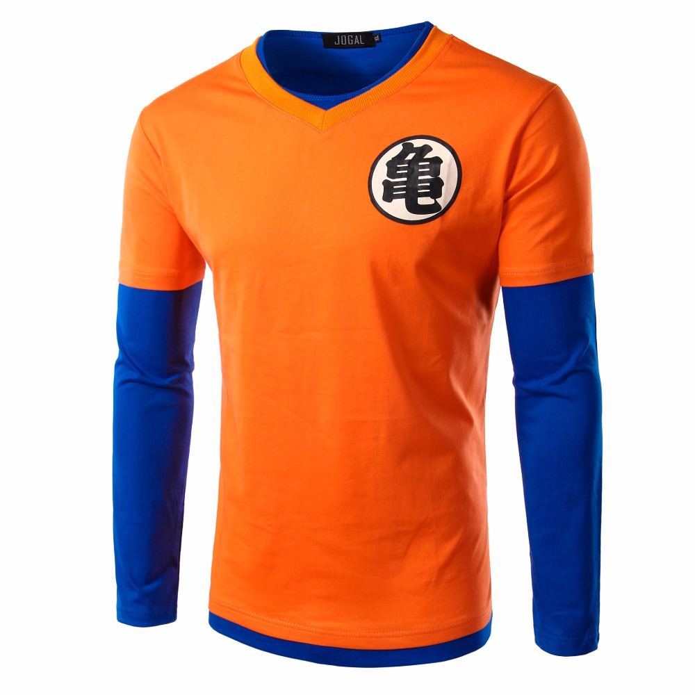 2016 Anime Cotton Dragon Ball T Shirt Men Slim Fitness Long Sleeve Compression Tshirt Homme Cosplay Tees Top CamisetaClothing