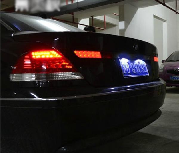 2Pcs White LED License Registration Plate Light Can Bus No Error For BMW 7