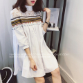 2017 Maternity clothing spring fashion loose plus size national doll trend long-sleeve shirt maternity one-piece dress