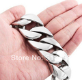 180g Huge 316L stainless steel curb cuban link bracelet chain Men's heavy Jewelry 26mm*21.5cm silver