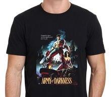 Ejército de la oscuridad Ash Bruce Campbell Evil Dead T-Shirt negro tamaño  S a XXL hombres camiseta el envío gratuito top Tees d2a547d2b131