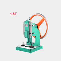 1.5T Small Manual Punch Press Desktop Disc Hand Punching Machine Cast Iron Industrial Manual Punch Machine Hot Sale (240*230mm)