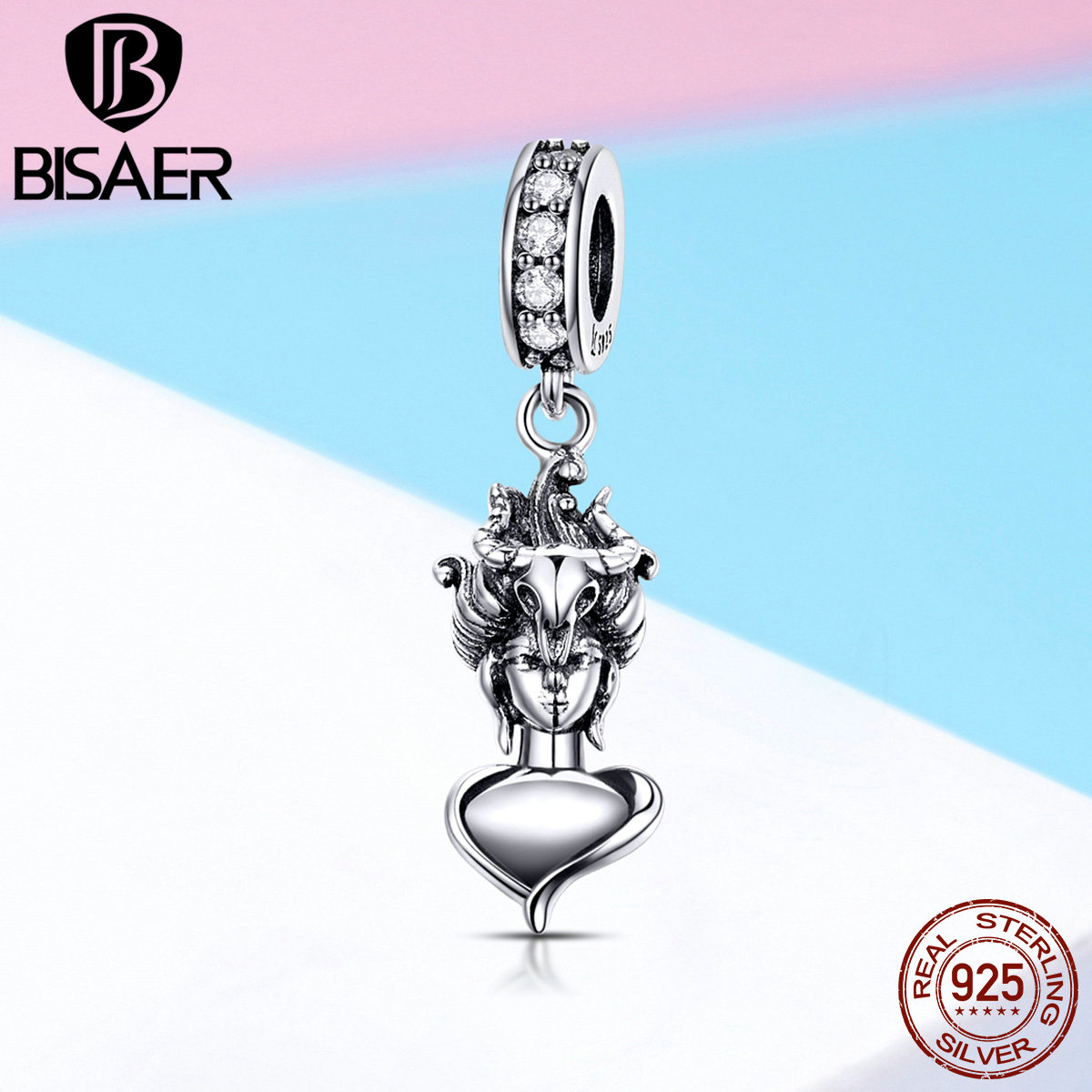 e11a701afef3a7 Detail Feedback Questions about BISAER 925 Sterling Silver Ancient Greek  Goddess Good Luck Pendant Charm fit for Women Charms Bracelet and Necklace  GXC1050 ...