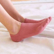 5 pairs/lot Classic Solid Women Ankle Breathable Low Sock Seamless Invisible Socks Slippers Female Cotton Boat Short