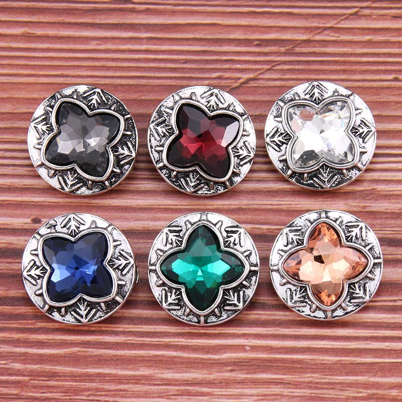 10pcs/<font><b>lot</b></font> New vintage Silver Snap <font><b>Jewelry</b></font> Crystal butterfly 18mm Metal Snap Button Fit Snap Bracelet <font><b>fun</b></font> Gift image