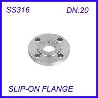 DN20 Stainless Steel SS316L RAISED FACE 4 Bolt SLIP ON FLANGE Industrial