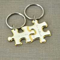 Personalized Puzzle keychains,Custom Keychains,Puzzle Piece Key Chain Set Gift for Him,Gift for her,Vanlentine's Day Gift