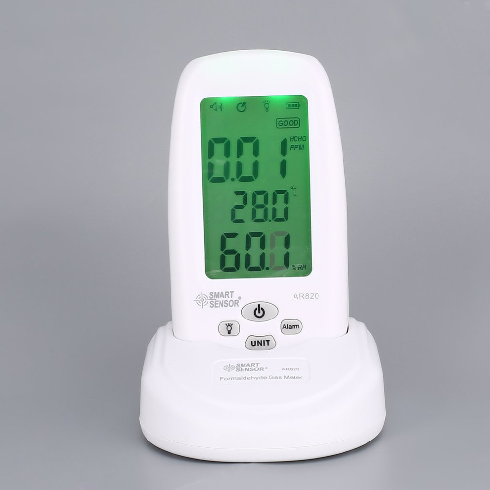 Smart Sensor AR820 HCHO Formaldehyde Air Quality Monitor Analyzer Temp Temperature Humidity Tester Gas Detector Meter free shipping china hcho ch2o formaldehyde monitor environmental with temperature humidity