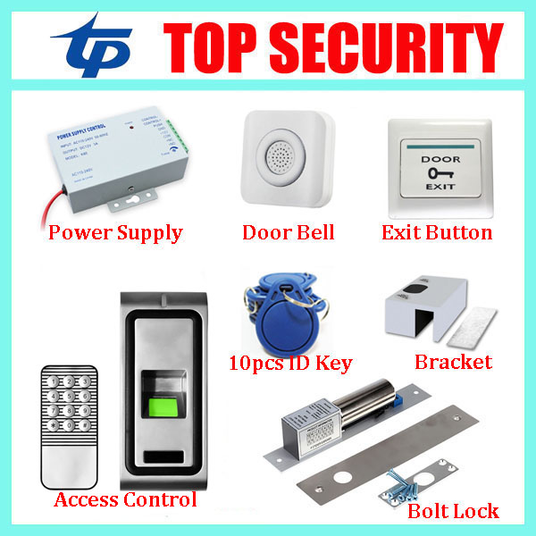 IP65 waterproof metal biometric fingerprint door access control system with keypad standalone access controller kits