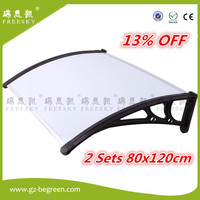 YP80360 80x120cm 2sets Roof Top Tent Polycarbonate Sheet Plastic Shed Overehead Door Retractable Awnings Economy Price