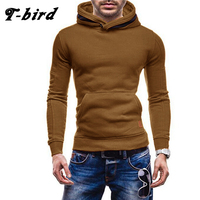 T Bird 2017 New Spring Autumn Hoodies Men Fashion Brand Pullover Solid Color Turtleneck Sportswear Sweatshirt
