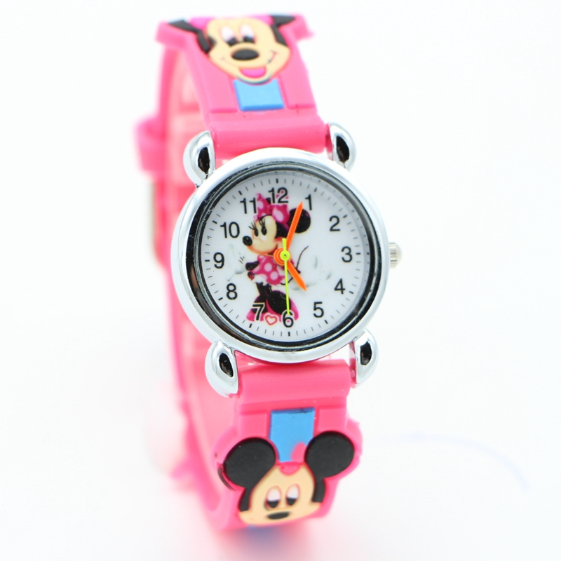 New Arrival 3D Cartoon Minnie Desgin Students Fashion Watches Children Kids Girls Watch Casual Quartz Wristwatch Relojes