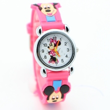 New arrival 3D cartoon minnie desgin Students fashion Watches Children Kids