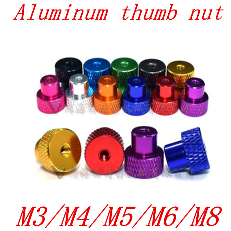 5 шт./лот M3 M4 m5 m6 m8 анодированная алюминиевая накатанная ступенчатая гайка большого пальца для FPV RC моделей