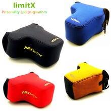 Neoprene ultra leve saco de câmera interna caso macio para sony a6600 a6400 a6500 a6300 a6100 a6000 câmera com 18-135 16-70 28-70 lente