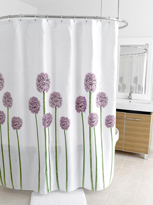 Warm Tour Flower Shower Curtain Shower Curtain Waterproof