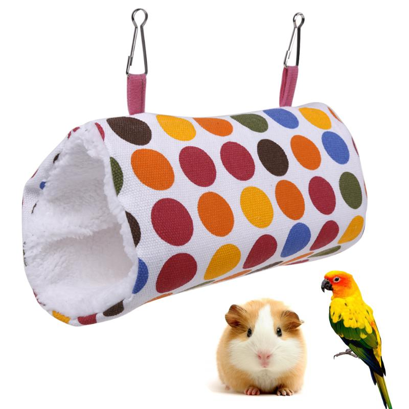 font b Pet b font Parrot Bird Toy Hammock Bed Fluffy Warm Hanging Cave Cage