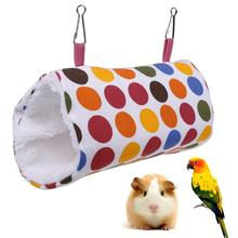 Pet Parrot Bird Toy Hammock Bed Fluffy Warm Hanging Cave Cage Bird Nest Shed Plush Snuggle