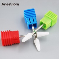 AriesLibra Ceramic Nail Art Drill Bit Umbrella Shape Nail Art Grinding Stone Head for Electric Manicure Drill Machine File Tool